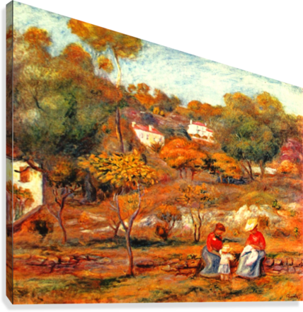 Landscape with Cagnes  Canvas Print