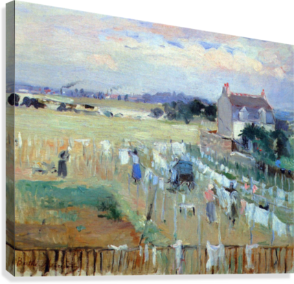 Laundry drying by Morisot  Canvas Print
