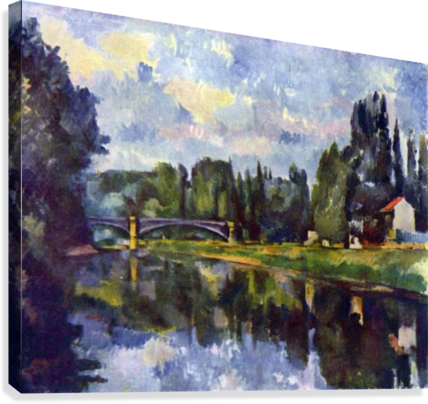Marne Shore by Cezanne  Canvas Print