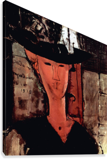 Modigliani - Lady With Hat  Canvas Print