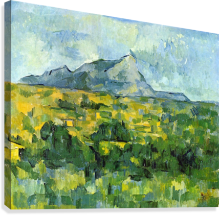 Mount St. Victiore by Cezanne  Canvas Print