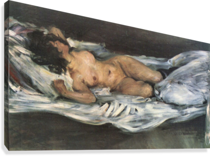 Nude by Lovis Corinth  Canvas Print