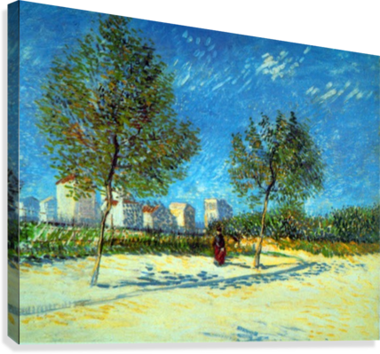 Outskirts by Van Gogh  Canvas Print