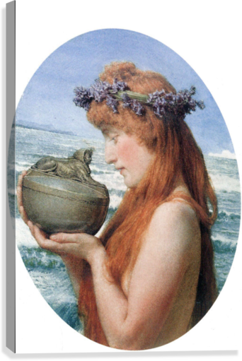 Pandora by Alma-Tadema  Canvas Print