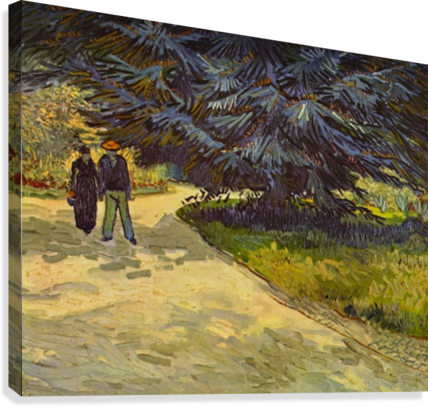Park Arles by Van Gogh  Canvas Print
