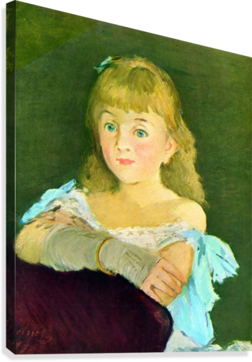 Portrait of Lina Campineanu by Manet  Canvas Print