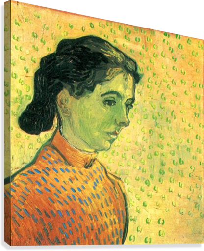 Portrait of a girl by Van Gogh  Canvas Print