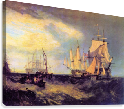 Recovering an anchor by Joseph Mallord Turner  Canvas Print