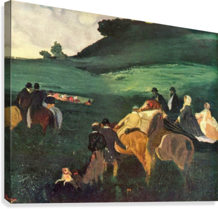 Riders in the  landscape by Degas  Canvas Print