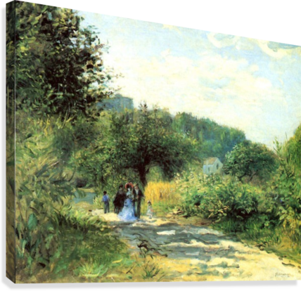 Road to Louveciennes  Canvas Print