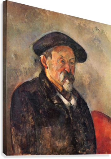 Self Portrait with Beret by Cezanne  Canvas Print