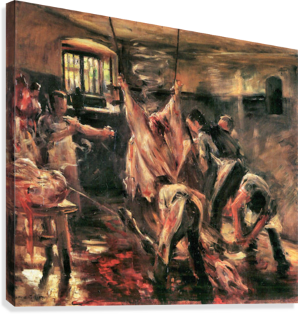 Slaughterhouse by Lovis Corinth  Canvas Print