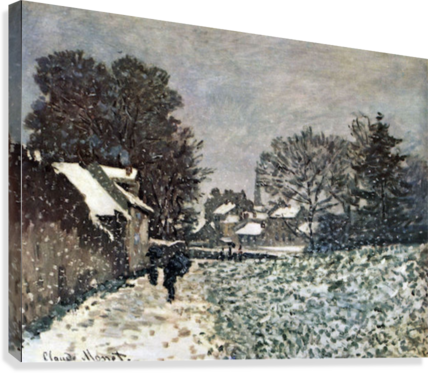 Snow at Argenteuil by Monet  Canvas Print