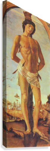 St. Sebastian by Botticelli  Canvas Print