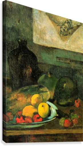 Still Life in Front of a Stich by Gauguin  Canvas Print