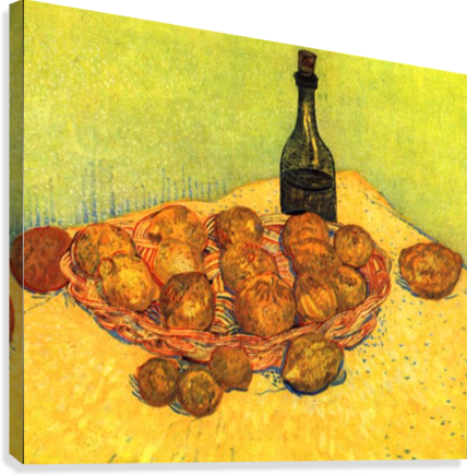 Still Life with Bottle, Lemons and Oranges by Van Gogh  Canvas Print