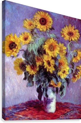 Still Life with Sunflowers by Monet  Canvas Print
