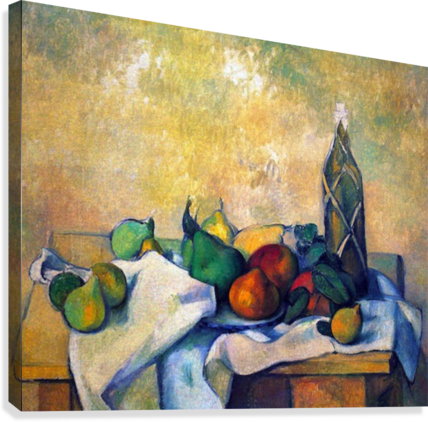 Still life, Rum by Cezanne  Canvas Print