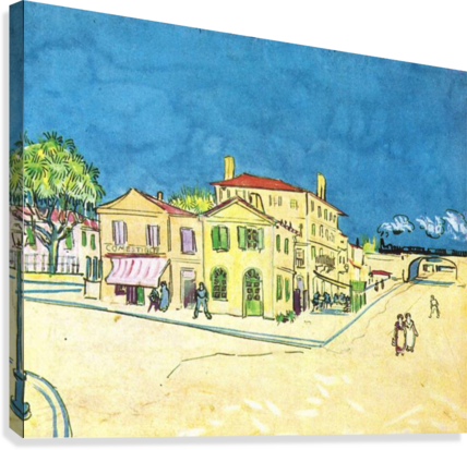 Study on Vincents House in Arles by Van Gogh  Canvas Print