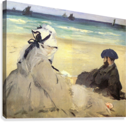 Sur_la_plage_1873 by Manet  Canvas Print