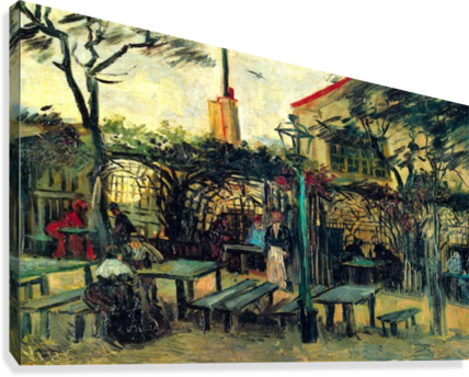 Terrace of a Cafe by Van Gogh  Canvas Print