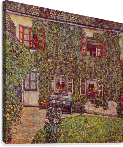 The House of Guard by Klimt  Canvas Print