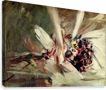 The Pansy by Giovanni Boldini  Canvas Print