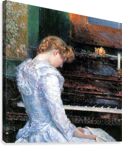 The Sonata by Hassam  Canvas Print