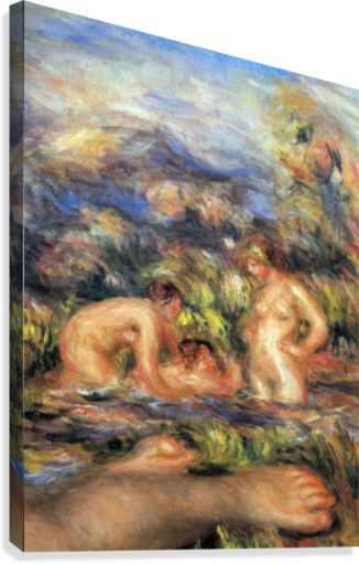 The bathers (Detail) by Renoir  Canvas Print