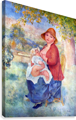The child at the chest maternity by Renoir  Canvas Print