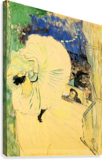 The coil by Toulouse-Lautrec  Canvas Print