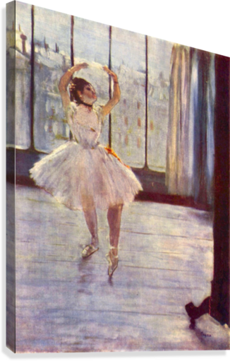 The dancer at the photographer by Degas  Canvas Print