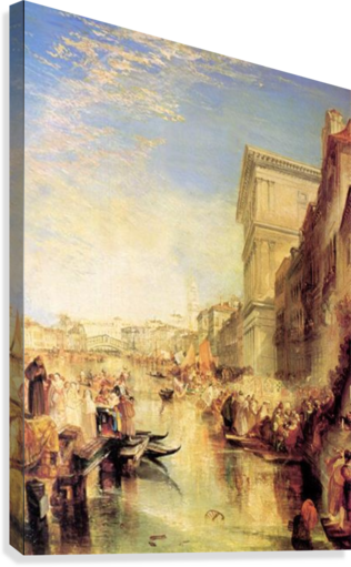 The grand canal in Venice by Joseph Mallord Turner  Canvas Print