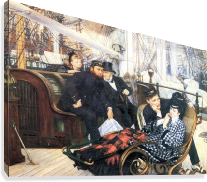 The last evening by Tissot  Canvas Print