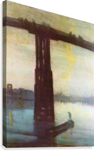 The old Battersea Bridge by James Abbot McNeill Whistler  Canvas Print