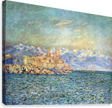 The old Fort in Antibes by Monet  Canvas Print