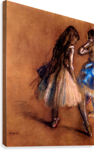 Two dancers 1 by Degas  Canvas Print
