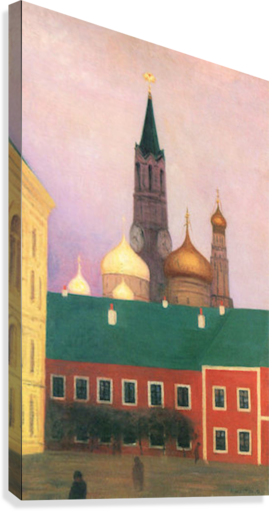 View of the Kremlin in Moscow by Felix Vallotton  Canvas Print