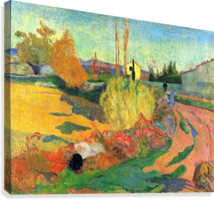 Von Arles by Gauguin  Canvas Print