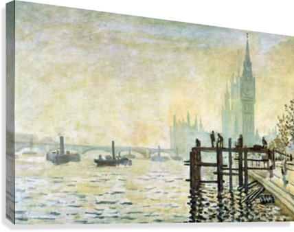 Westminster Bridge in London by Monet  Canvas Print