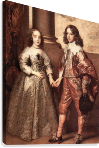 William of Orange with his future bride by Van Dyck  Canvas Print
