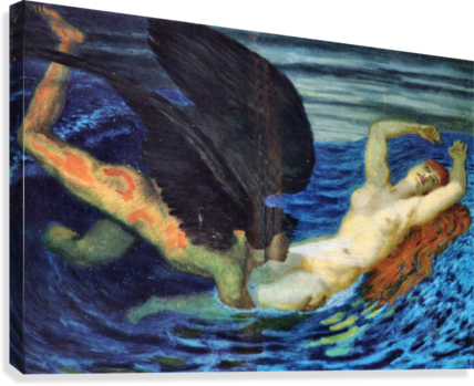 Wind and Wave by Franz von Stuck  Canvas Print