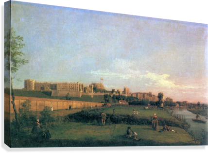 Windsor Castle by Canaletto  Canvas Print