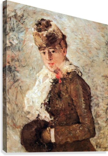 Winter (woman with Muff) by Morisot  Canvas Print
