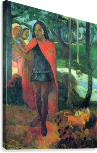 Wizard of Hiva-Oa by Gauguin  Canvas Print