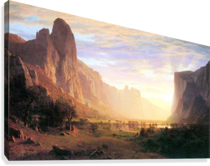 Yosemite Valley 3 by Bierstadt  Canvas Print