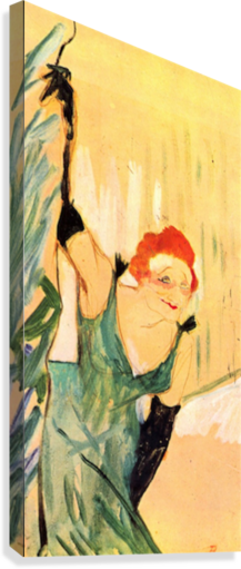 Yvette Guilbert greets the Audience by Toulouse-Lautrec  Canvas Print