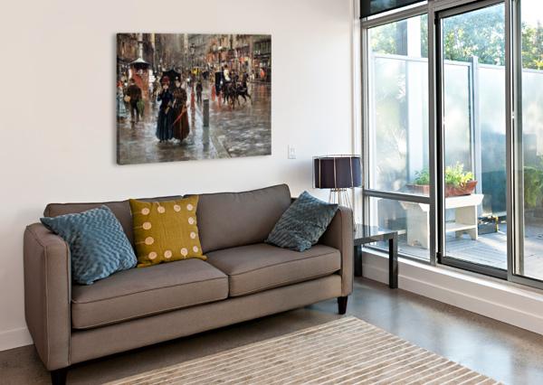 NAPLES VIA TOLEDO, WITH RAIN DROPS CARLO BRANCACCIO  Impression sur toile