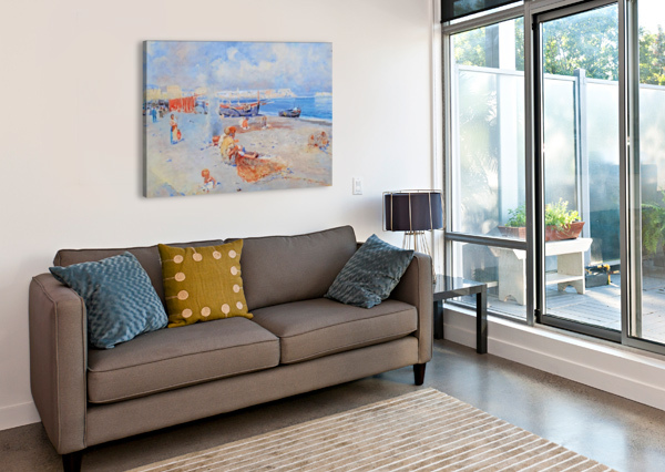 BEACH OF MERGELLINA CARLO BRANCACCIO  Impression sur toile