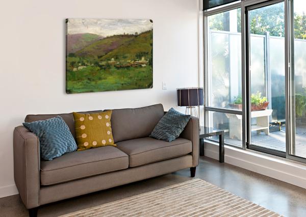 LANDSCAPE WITH HOUSES ON AN ITALIAN HILL CARLO BRANCACCIO  Impression sur toile